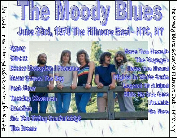 The Moody Boots - Fillmore East NYC